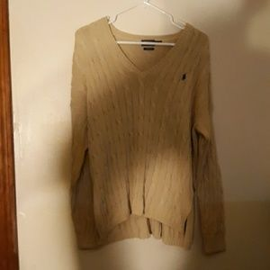 Womens size large polo sweater